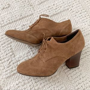 Isola brown suede booties